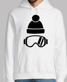 chapeau de lunettes de ski
