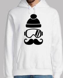 chapeau de snowboard de ski moustache