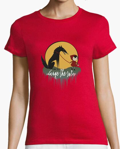 Tee-shirt chaperon rouge féministe change les règles