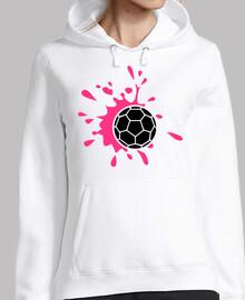 chapoteo de balonmano rosa