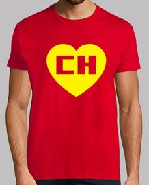 Chapulin Colorado Chespirito Hombre, manga corta, rojo, calidad extra