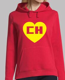 Chapulin Colorado Chespirito Mujer, jersey con capucha, rojo