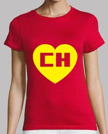 Chapulin Colorado Chespirito Mujer, manga corta, roja, calidad premium