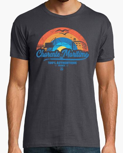 Tee-shirt Charente Maritime avec Arc en ciel