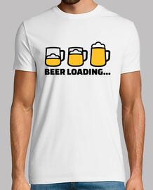 chargement de verre de bière