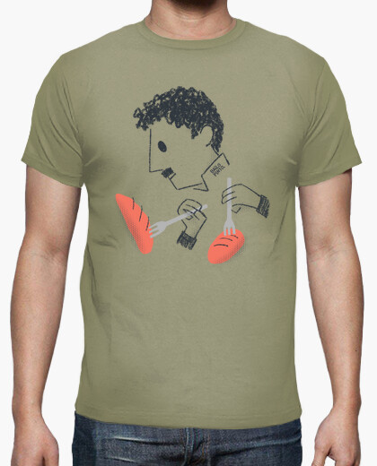 Charlie chaplin dancing with breads t-shirt