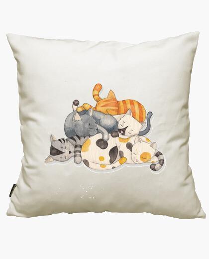 Housse de coussin chat -siesta de la sieste