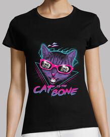 chat à la chemise d'os femmes