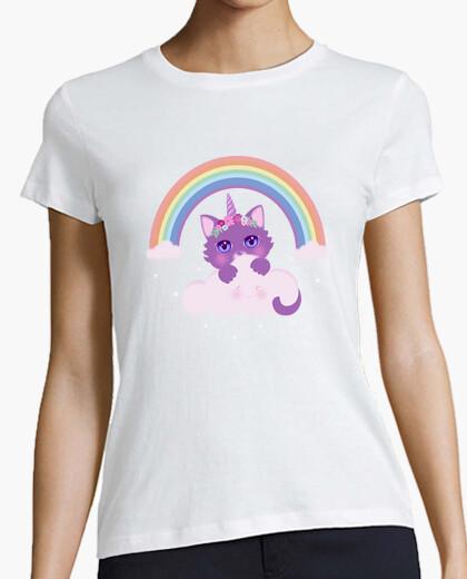 Tee-shirt chat arc-en-ciel