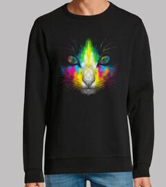 chat au néon