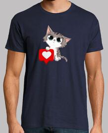 chat avec coeur