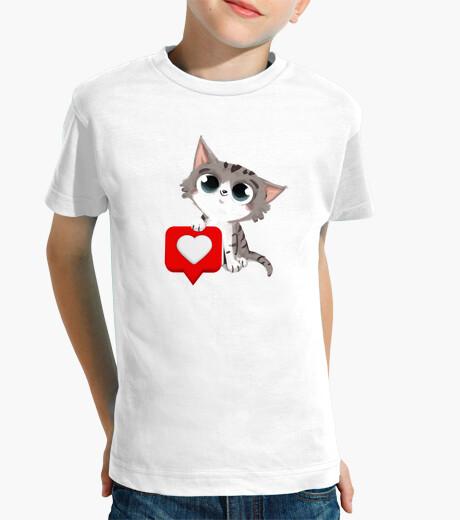 Vêtements enfant chat avec coeur