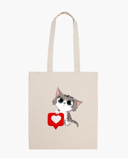 Sac chat avec coeur