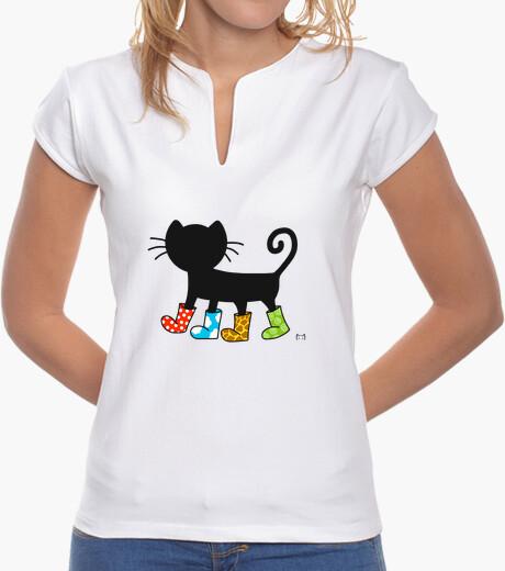 Tee-shirt chat botté