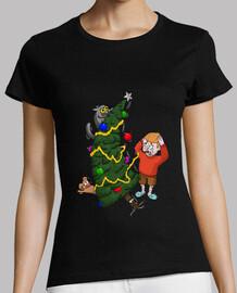 chat de Noël fou