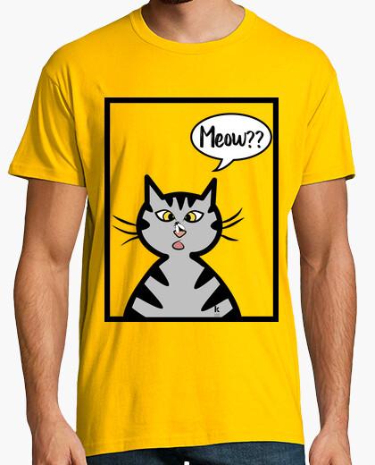 Tee-shirt chat drôle parler