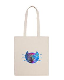 chat galaxie (bordure en bleu)