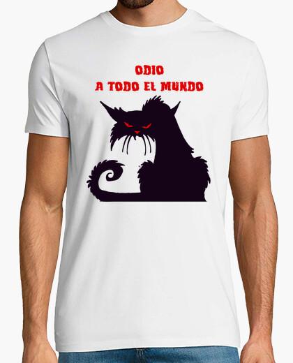 Tee-shirt chat je déteste tout le monde