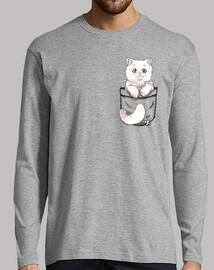 chat mignon de poche persan - manche longue pour homme