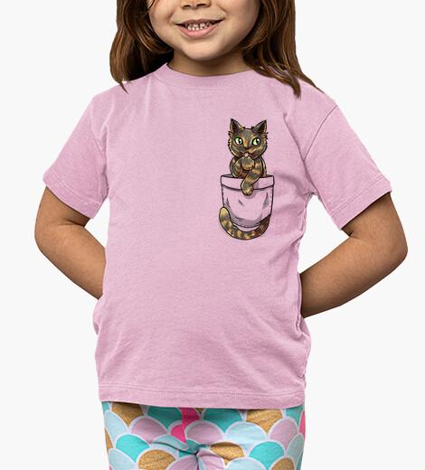 Vêtements enfant chat mignon en écaille de tortue - chemise enfant