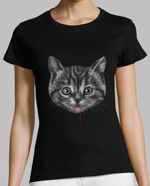 chat noir chemise femme womens
