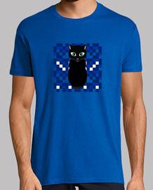 chat noir nuit garçon à manches courtes