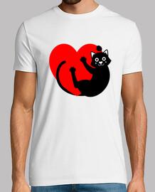 chat noir ont ging du cœur