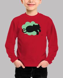 chat nuage vert