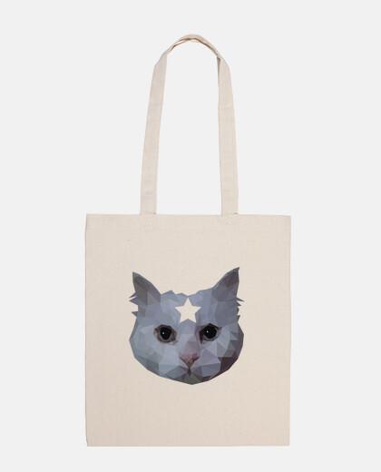 chat sac fourre-tout bas poly