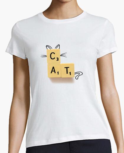 Tee-shirt chat scrabble