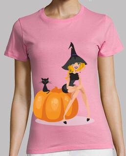 chat sorcière et citrouille h all oween