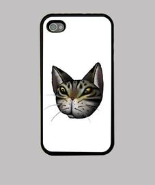 chat tigré visage iphone 4