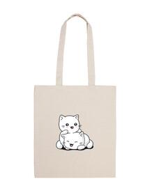 chaton kawaii sac fourre-tout drôle