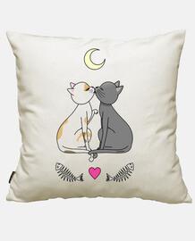 chats amoureux kawaii