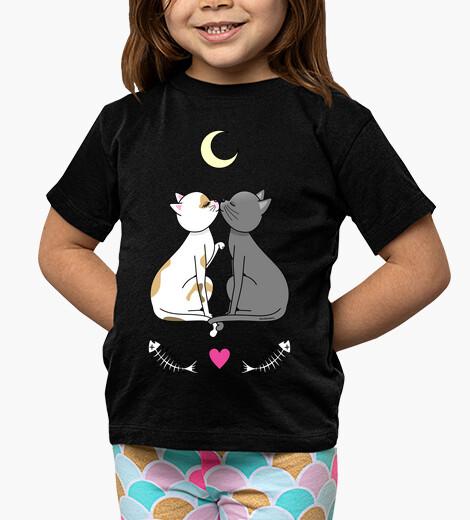 Vêtements enfant chats amoureux kawaii