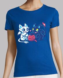 chats de lumière et de nuit dragon - chemise womans