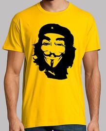 Che Guevara Anonymous guy fawkes camisetas friki