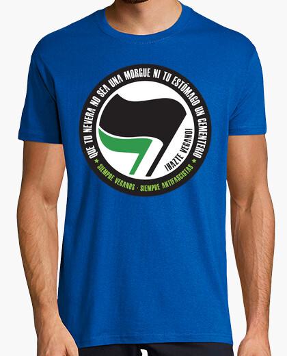 T-shirt che il frigorifero sarà non sea una obitorio o il vostro frigo un cimitero - diventare vegan