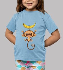 che scimmia! - t-shirt bambino