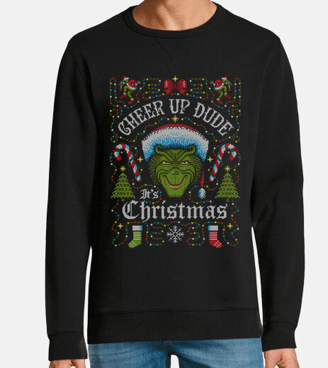cheer up dude its christmas grinch ugly sweater
