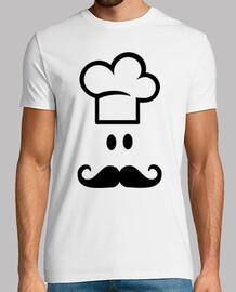 Chef cuisinier moustache