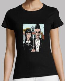 chemise américaine goth femme