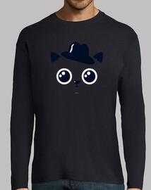 chemise chat homme, manche longue, couleurs variées