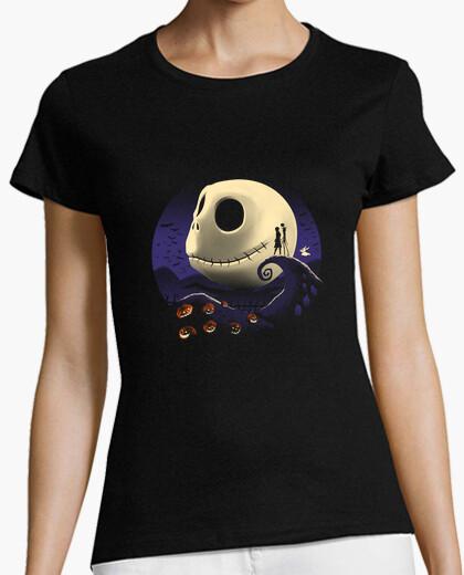 Tee-shirt chemise citrouilles et cauchemars womens