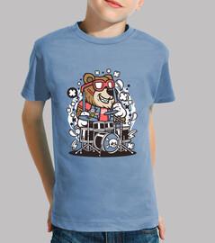 chemise de bande dessinée bear drôle juvénile