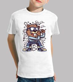 chemise de bande dessinée combattant juvénile