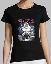 chemise de bonhomme de neige kaiju femme