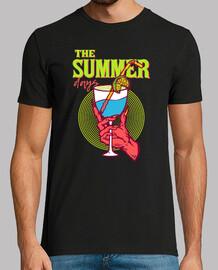 chemise de fête rétro vintage des années 1980 fête une boisson de l'enfer