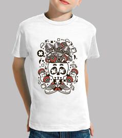 chemise de jeunesse de gymnastique drôle de bande dessinée