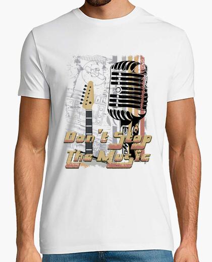 Tee-shirt chemise de musique rock vintage retro